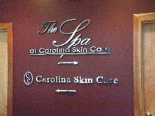 carolina skin care custom silver mirror finish lettering clasic signs nc 1024x768 220x180ish