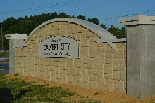calvert city 24capstone installation finished 2 classic signs nc 220x180ish