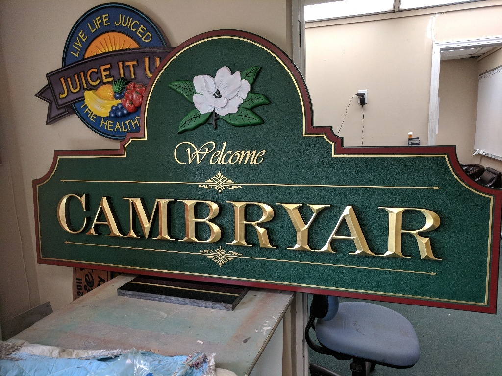 Cambryar almost finished by classic signs nc