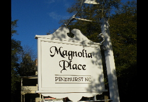 old style village sign remade in pvc magnolia place pvc acrylic classic signs nc 320x240kwicks