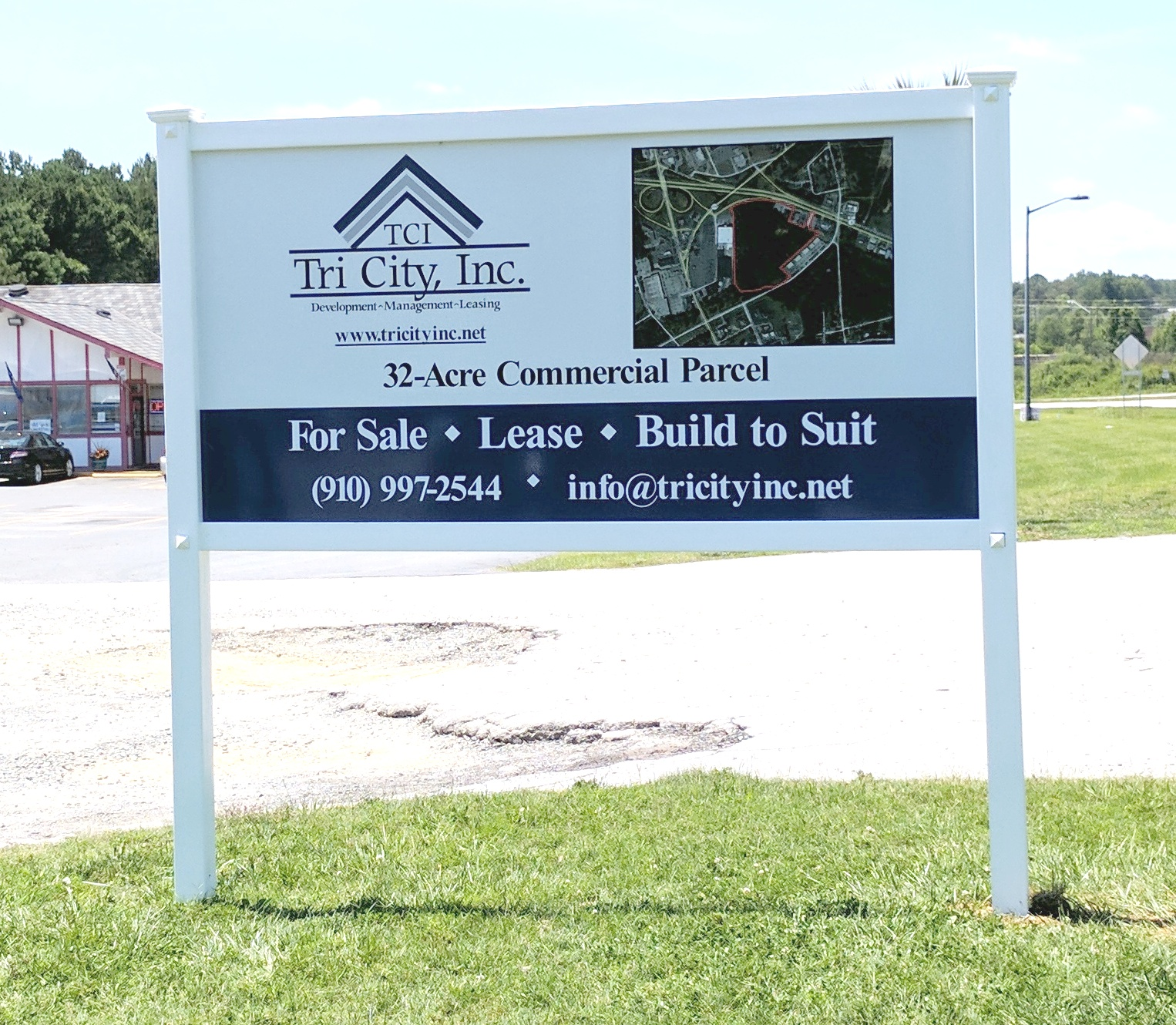 Land for sale pvc frame composite panel sign classic signs nc320x240