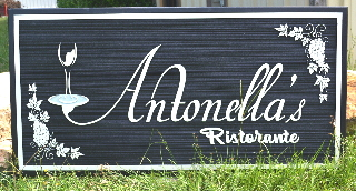 antonellas ristorante sandblasted wall sign classic signs nc 320x240