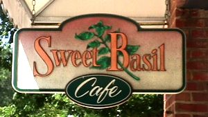 sweet basil sandblasted hdu copper leaf hanging classic signs nc