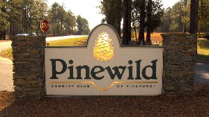 pinewild entrance sandblasted hdu sign with 23kt gold classic signs nc 300x169
