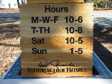 sandblasted cedar natural finish weathered edge schumacher hours classic signs nc 220x180ish
