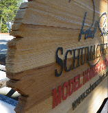 sandblasted cedar natural finish weathered edge zoom schumacher main sign classic signs nc 220x180ish