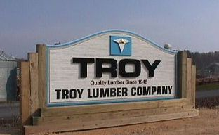 troy clear all heart redwood sandblasted sign with appliqued logo and letters from classic signs nc320x240
