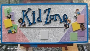 kid zone sandblasted hdu sign appliqued blocks painted kids classic signs nc 300x169
