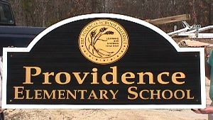 providence elementary school sandblasted hdu classic signs nc 300x169