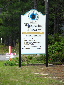 community entrance sign whispering pines large 3dimensional classic signs nc 210x280