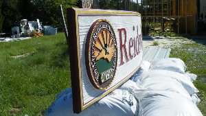 reidsville city sandblasted curved hdu sign tofit curved wall classic signs nc 300x169