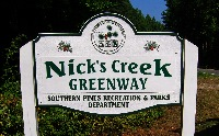 southern pines park cast polyester vandal resistant supertough sign classic signs nc 200x124