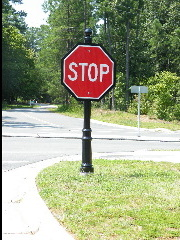 victiorian style stop sign classic signs nc 180x240