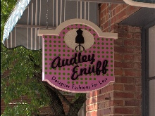 audley enouff sandblasted hdu shop sign from Classic signs NC 220x164