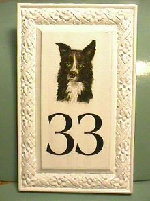 bramble border collie islington molded hdu signblank with hand painted border collie from classic signs nc 220x293