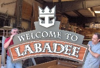labadee resort welcome signs hdu custom routed sandblasted signage classic signs nc 200x136