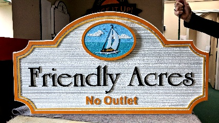 friendly acres sandblasted house sign 320x240