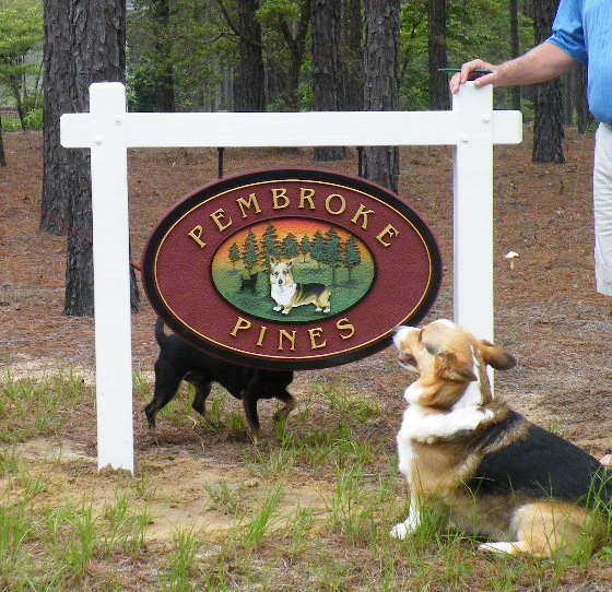 pembroke pines sandblasted house sign with pembroke corgi classic signs nc 220x180ish