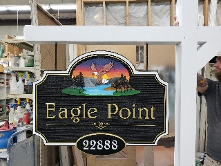 eagle point sandblasted HDU sign plus lasered applique 1 320x240