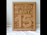 15 mph speed limit molded cast hdu sign Classic signs nc 160x120