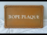 rope plaque molded cast signblank  classic signs nc 160x120